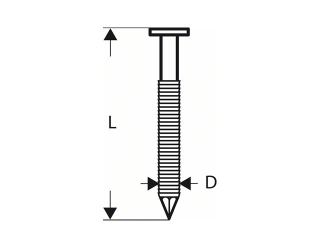 Гвозди для GSN 90-21 RK SN21RK 75RG (3000шт) (BOSCH)