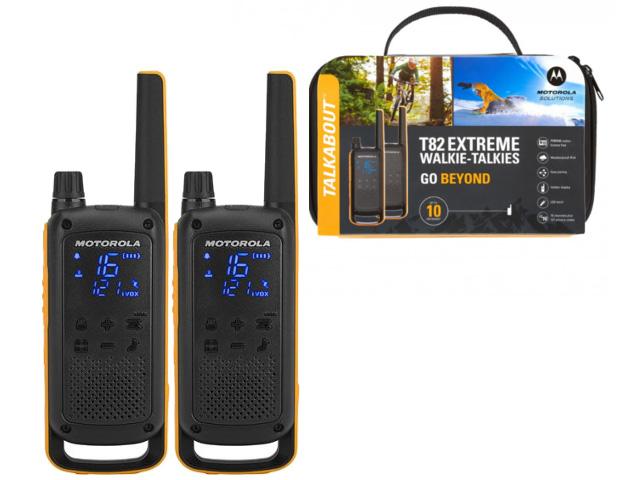 Радиостанция маломощная в комплекте (2шт+ЗУ) TALKABOUT T82 EXTREME Motorola (Для профессионального использования (крепче корпус, более устойчив к паде