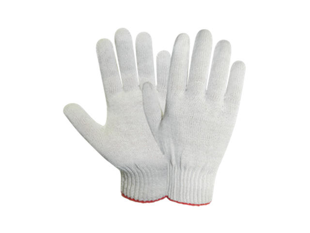 Перчатки х/б трикотажные 10класс (белые) РБ (34гр) (2458)