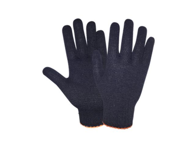 Перчатки х/б трикотажные 7,5класс (черные) РБ (44гр) (2071)