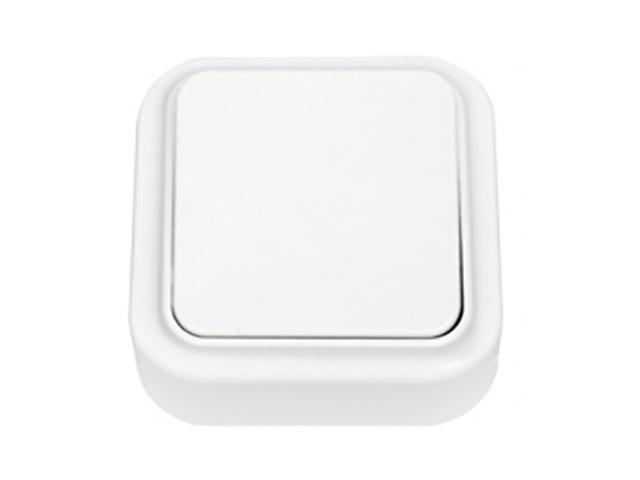 Выключатель 1 клав. (открытый, 6А) белый, Пралеска, Bylectrica