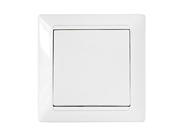 Выключатель 1 клав. (скрытый, 10А) проходной белый, Стиль, Bylectrica