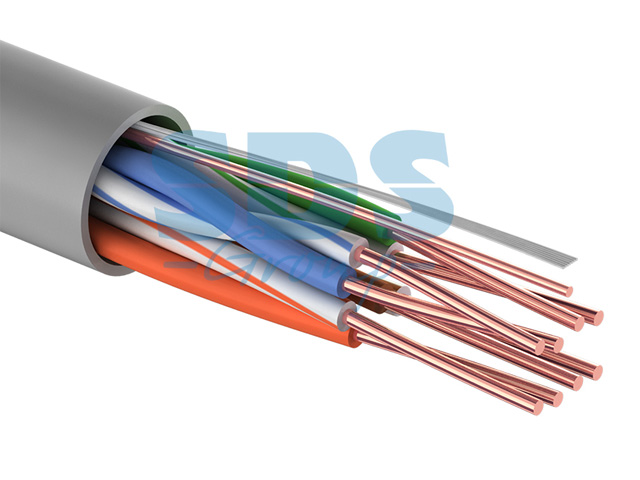 Кабель UTP 4PR 24AWG, CU (медь), CAT5E, 100МГц, PVC серый, (бухта 25 м)  PROconnect
