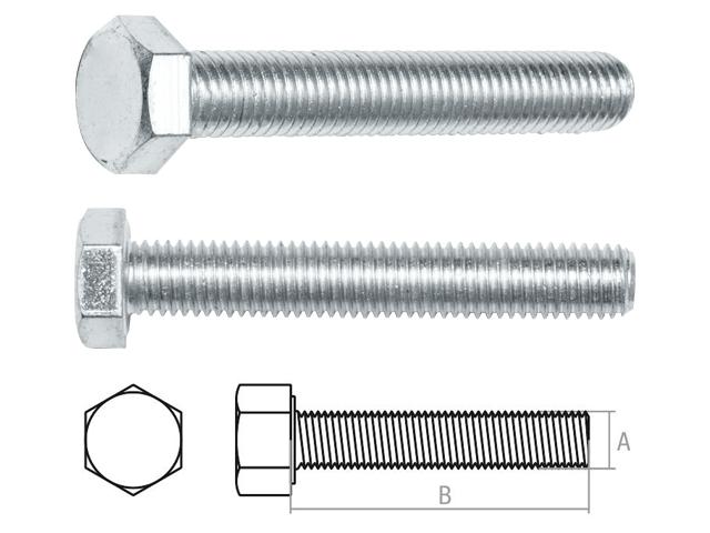Болт М10х60 мм шестигр., цинк, кл.пр. 5.8, неполн.резьба РМЗ (25 кг упак) (STARFIX)
