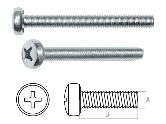 Винт М4х12 мм полусф. головка, цинк, кл.пр. 5.8, DIN 7985 (1000 шт в карт. уп.) STARFIX