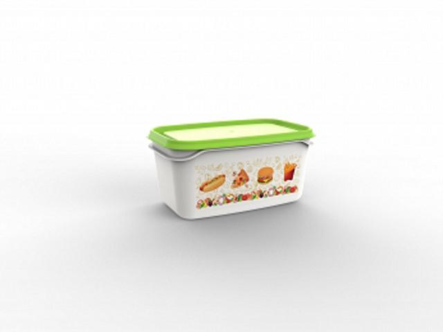 Контейнер Good day, 0,5 л, салатный, BEROSSI (Изделие из пластмассы.   Размер 160 х 101 х 77 мм)