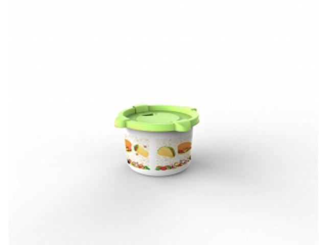 Контейнер для СВЧ Good day 0,5 л, салатный, BEROSSI (Изделие из пластмассы. Размер 139 х 137 х 81 мм)