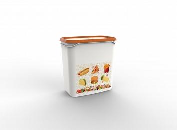 Контейнер Good day, 1,5 л, мандарин, BEROSSI (Изделие из пластмассы.   Размер 160 х 101 х 163 мм)