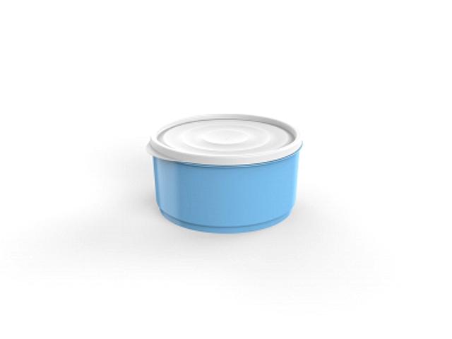 Контейнер круглый Lana, 1,6 л, голубая лагуна, BEROSSI (Изделие из пластмассы. Литраж 1.6 л  . Размер 195 х 178 х 91 мм)