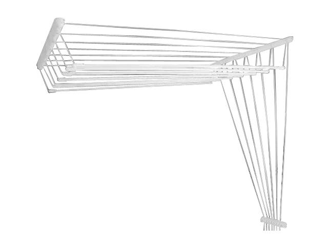 Сушилка для белья потолочная стальная 2,4 м, 7 стержней, белая, PERFECTO LINEA (7 стержней)