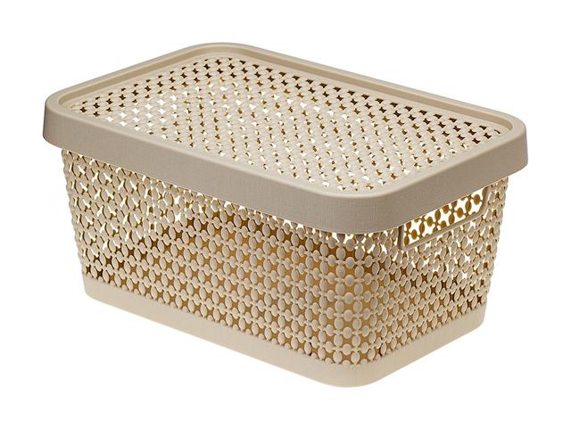 Ящик для хранения с крышкой ПИРУЛА 125х267х183 (латте) IDEA