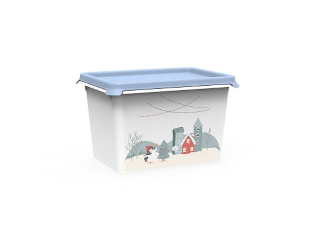 Емкость Christmas 2 л, васильковый, BEROSSI (Изд. из пластм. Размер 197 * 147 * 125 мм)