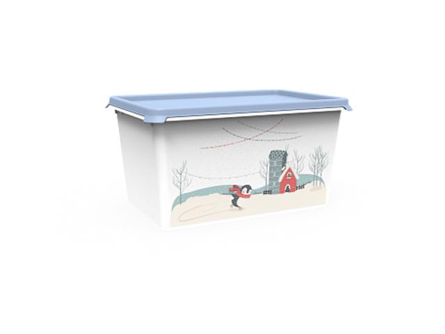 Емкость Christmas, 6 л, васильковый, BEROSSI (Изд. из пластм. Размер 301 * 201 * 155 мм)