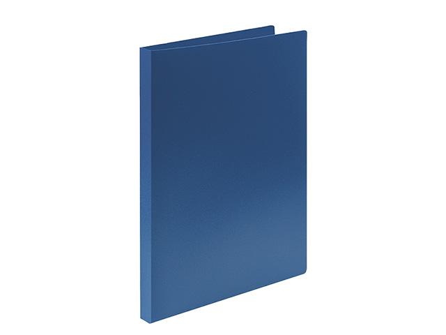 Папка с кольцами LITE А4 2 кольца 500 мкм 21 мм синий пластик
