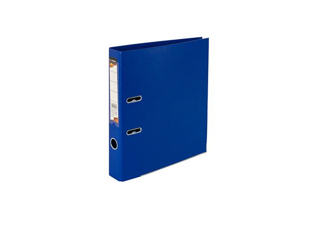 Папка-регистратор inФОРМАТ 55 мм двухстор.PVC синий метал.окант. съемн. мех. карман д/маркир.этикет.