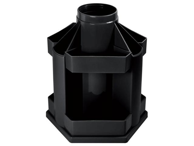 Подставка д/канц inФОРМАТ MAXI DESK 10 отд. вращающ. черный пластик