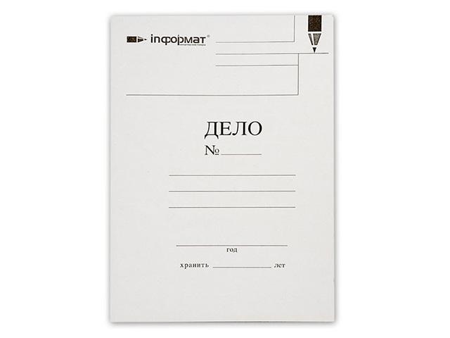 Папка-обложка ДЕЛО InФОРМАТ А4 белый немелов. картон 280 г/м2