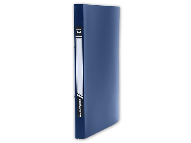 Папка с прижимами inФОРМАТ А4 1 прижим синий пластик 550 мкм