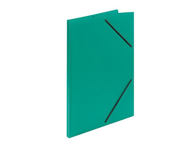Папка с резинкой inФОРМАТ А4 33 мм зелен. пластик