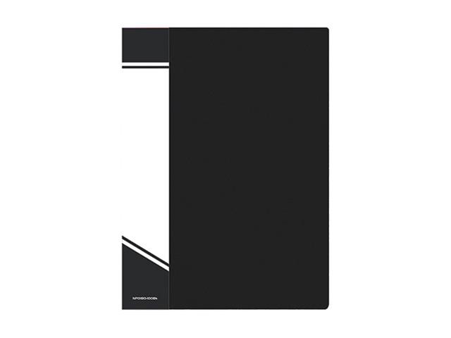 Папка с файлами inФОРМАТ А4 100 файлов черный пластик 800 мкм карман