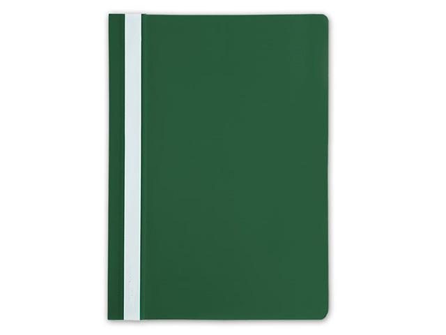 Папка скоросшиватель LITE А4 зелен. пластик 110 мкм карман д/маркир.этикет.