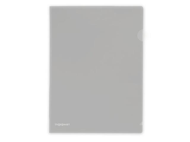Папка-уголок inФОРМАТ А4 пластик 180 мкм прозр.