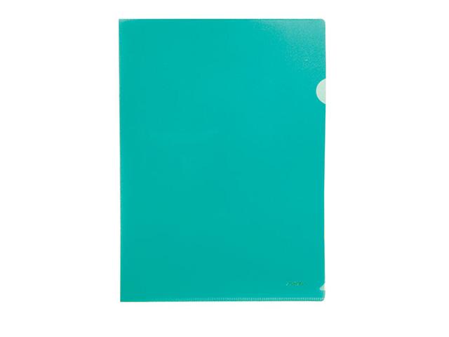 Папка-уголок STANGER А4 пластик 200 мкм зелен.