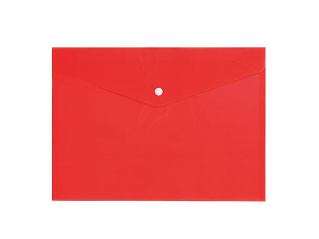 Пласт. конверт inФОРМАТ А4 на кнопке пластик 150 мкм красн.