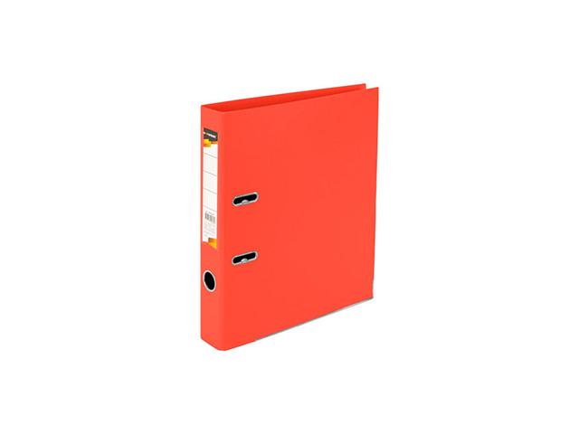 Папка-регистратор inФОРМАТ 55 мм двухстор.PVC оранж. метал.окант. съемн. мех. карман д/маркир.этикет