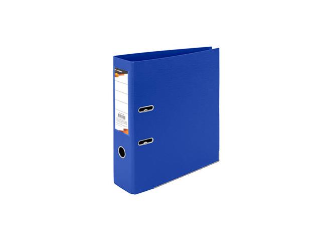 Папка-регистратор inФОРМАТ 75 мм двухстор.PVC синий метал.окант. съемн. мех. карман д/маркир.этикет.