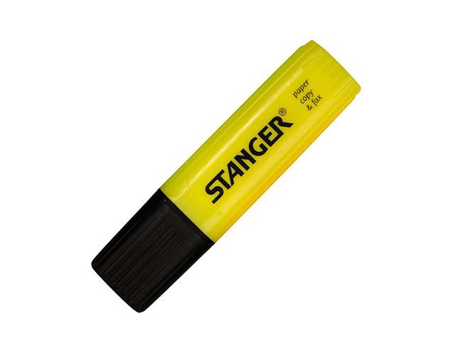 Маркер текстов. STANGER PAPER & FAX 1-5 мм желт. скошенный