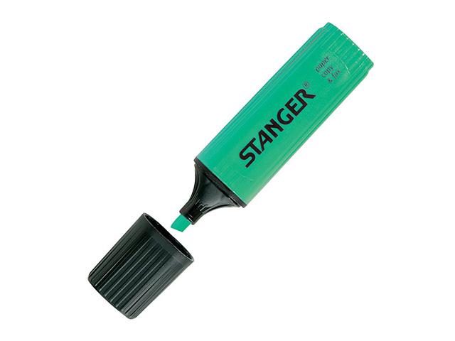 Маркер текстов. STANGER PAPER & FAX 1-5 мм зелен. скошенный