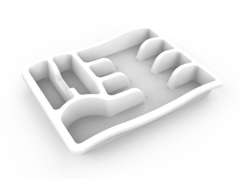 Лоток для столовых приборов Magic, снежно-белый, BEROSSI (Изделие из пластмассы.   Размер 380х295х51 мм)