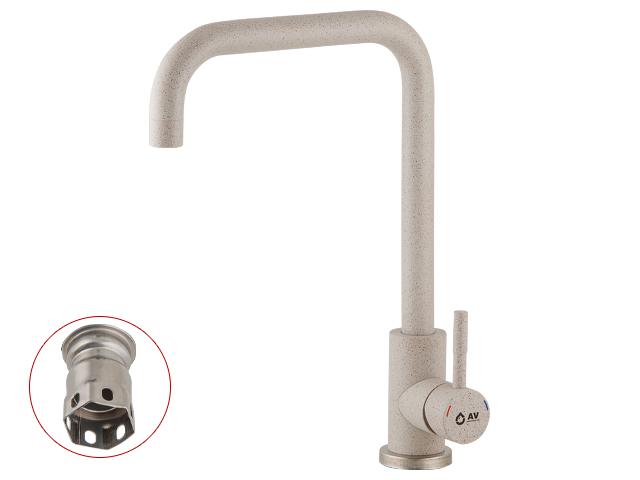 Смеситель для кухни (SUS 304) D35 AVZAR4-B304SN песочный AV Engineering