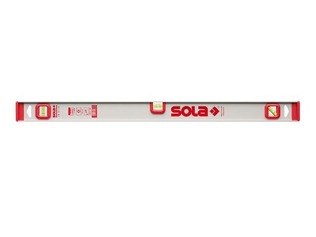 """Уровень 1200мм 3 глазка """"рельс"""" I5 120 (SOLA)"""