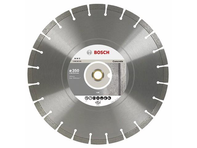 Алмазный круг 350х20/25.4 мм по бетону сегмент. EXPERT FOR CONCRETE BOSCH (сухая/мокрая резка)
