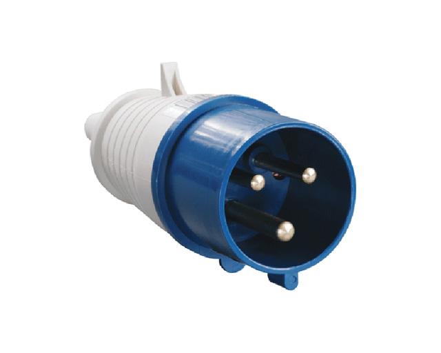 Вилка силовая 32А 220В 3 pin 2P+PE IP44 IEK (32А 380В 3 pin 2P+PE IP44) (33963)