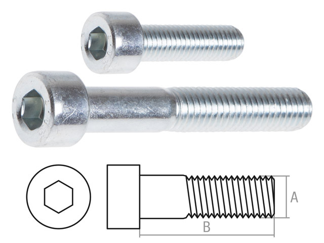 Винт М8х50 мм с внутр. шестигр., цинк, DIN 912 (10 шт в пласт. конт.) STARFIX (неполная резьба)
