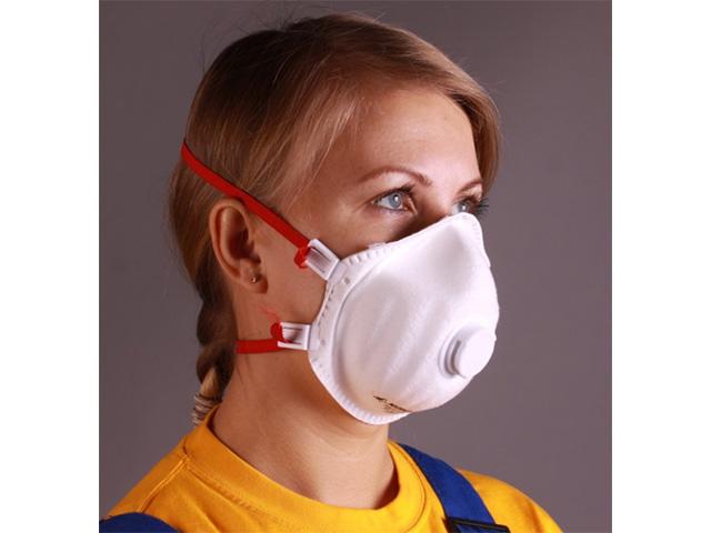 Респиратор РК Юлия-319 FFP3 (до 50 ПДК) с клапаном выдоха (формованный, пыль,дым,туман  FFP3 R D, с регулировкой)