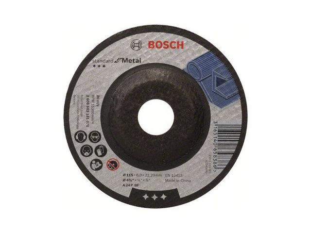 Круг обдирочный 115х6x22.2 мм для металла Standard BOSCH