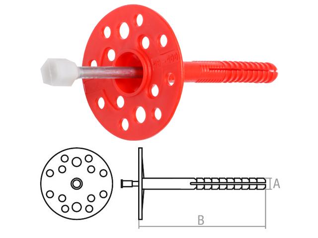 Дюбель для теплоизоляции 10х300 мм с металлич. гвоздем, термогол. (400 шт в коробе) STARFIX