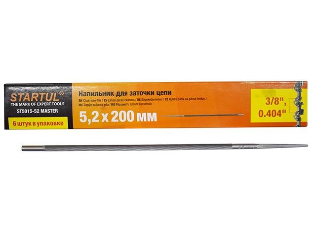 "Напильник для заточки цепей ф 5.2 мм STARTUL MASTER (ST5015-52) (для цепей с шагом 3/8"", 0.404"")"