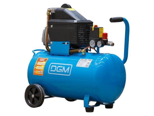 Компрессор DGM AC-152 (260 л/мин, 8 атм, коаксиальный, масляный, ресив. 50 л, 220 В, 1.80 кВт)