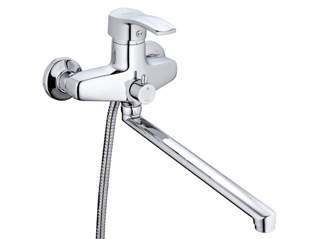 Смеситель для ванны (Lt) с плоск. изливом D40, GBS7-A279 G.lauf (Смеситель латунный Гарантия 5 лет)