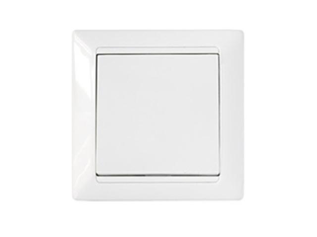 Выключатель 1 клав. (cкрытый, 10А) белый, Стиль, Bylectrica